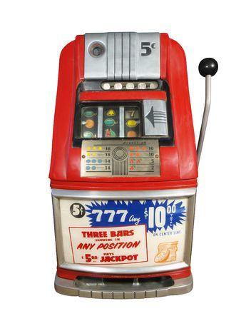 machine: Vintage casino slot machine in excellent condition.   Stock Photo