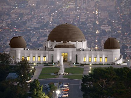 Griffith Park Observatory, famous Los Angeles city owned landmark. Stock Photo - 5566873