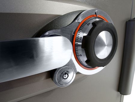 combination: Home fire safe combination lock and handle.