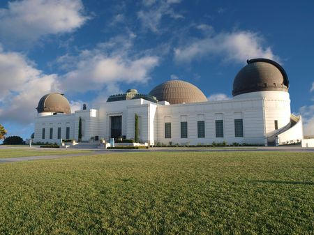 observatory: Griffith Park Observatory, famous Los Angeles city owned landmark.