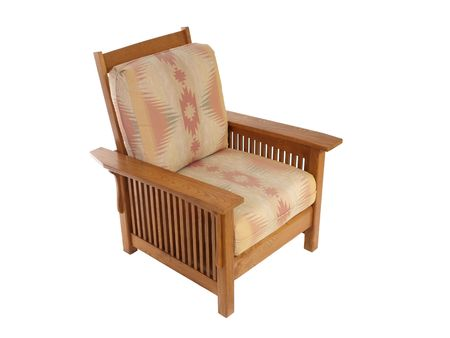 Comfortable arts and crafts style living room chair.    Stock Photo - 5566884