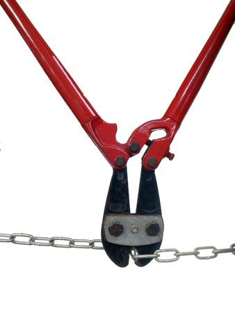 Bolt Cutters eats a metal chain with ease. Stock Photo - 5621186