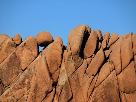 Jumbo rock formation at Joshua Tree National Park in California.  photo
