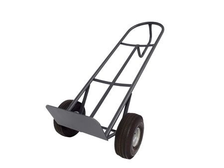 Movers dolly aka Hand Truck.  Isolated on white. Stock Photo - 5801431