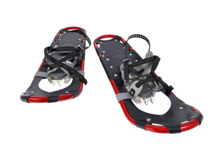 Modern snow shoes.  Ready for winter sport adventures.