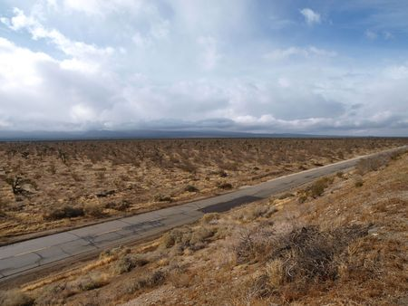 Winter storm crossing the Mojave desert in Southern California. photo