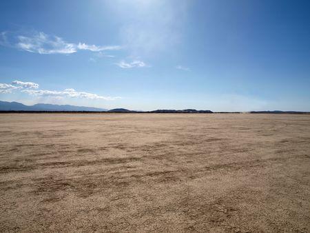El Mirage dry lake in Californias Mojave Desert. photo
