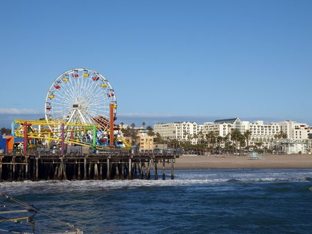 Sun, sea, sand, and fun in Santa Monica California.