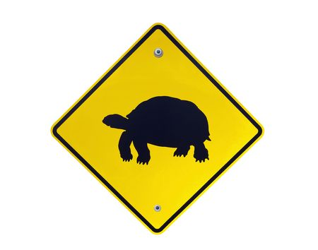 Desert tortoise crossing warning highway sign.   Stock fotó