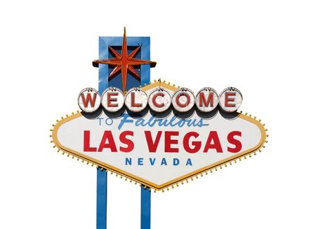 Famous Welcome to Las Vegas sign in Nevada USA.        photo