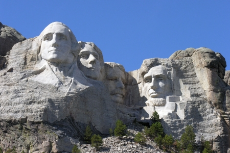 Historic Mt Rushmore National Park in South Dakota. Stock Photo