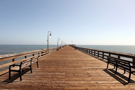 Ventura pier, the longest wooden pier in California. Stock Photo - 6879398