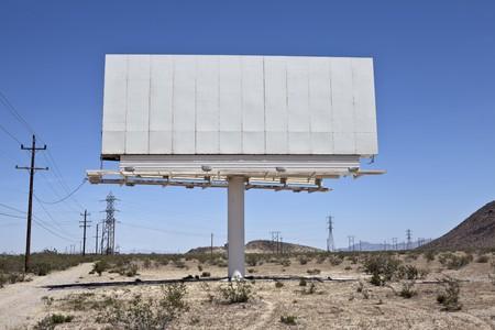 Blank billboard in the middle of California's Mojave desert. Stock Photo - 6927847