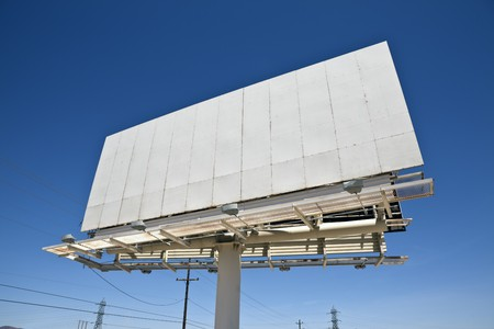 Blank highway billboard in California's Mojave desert. Stock Photo - 6927853