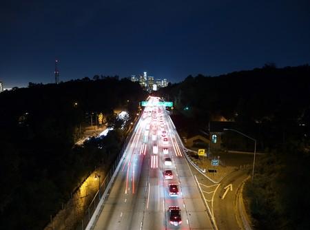The Pasadena Freeway southbound toward downtown Los Angeles. Stock Photo - 7002772