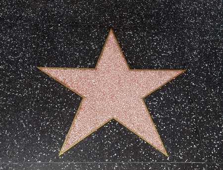 HOLLYWOOD CALIFORNIA - MAY 5, 2009:  An empty star awaits fame on Hollywood Bl. Stock Photo - 7086416