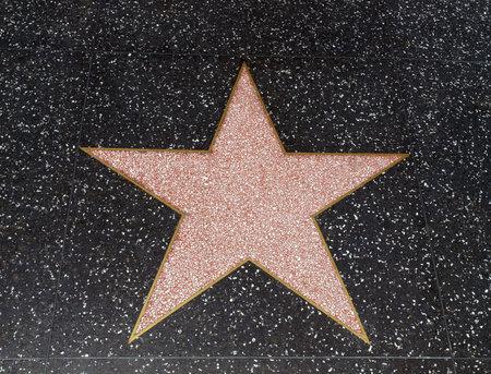 hollywood star: HOLLYWOOD CALIFORNIA - MAY 5, 2009:  An empty star awaits fame on Hollywood Bl.