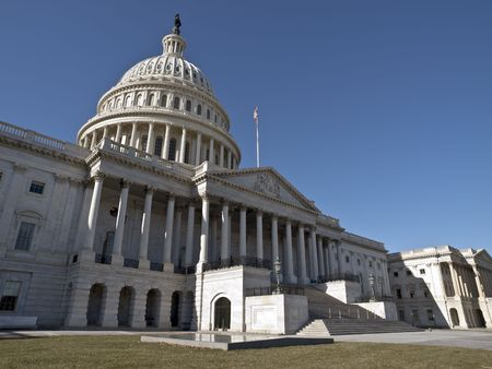 The US Capitol on a quiet Sunday morning.   Stock Photo - 7082716