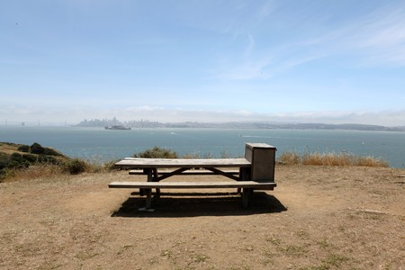 Choice picnic spot on Angel Island in San Francisco Bay.   Stock Photo - 7154709