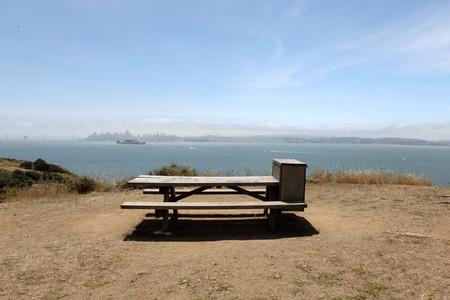 Choice picnic spot on Angel Island in San Francisco Bay. Stock Photo - 7154709