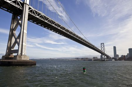 San Francisco's landmark Bay Bridge crossing to Oakland. Stock Photo - 7154778