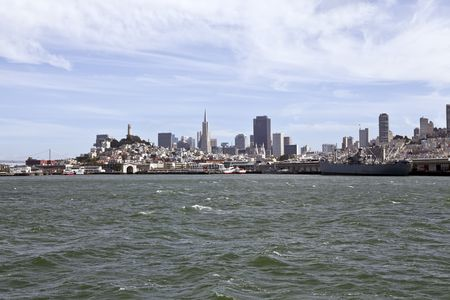 Downtown San Francisco viewed from the middle of the bay. Stock Photo - 7154804
