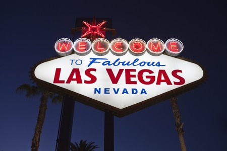Welcome to Fabulous Las Vegas Nevada road sign.