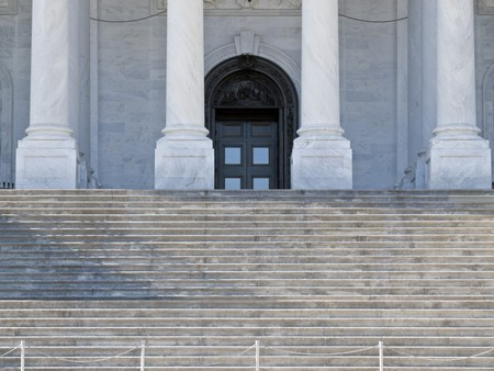 supreme court: Supreme Court steps and front door in Washington DC. Stock Photo