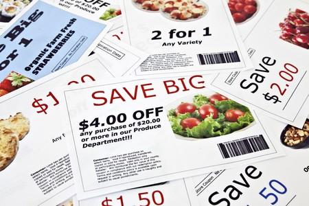 Fake coupon achtergrond. Alle coupons werden gemaakt door de foto graaf. Afbeeldingen in de coupons zijn het werk van foto grafen en zijn opgenomen in de release.  Stockfoto