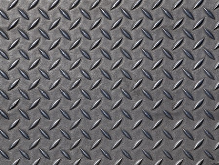 diamond plate: Worn steel road plate.  Grunge background texture. Stock Photo