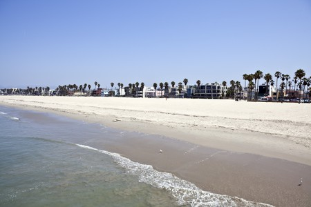 Famous Venice beach California.  Viewed from the fishing pier.   Stock Photo - 7419915