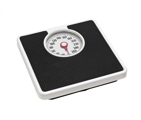 Old bathroom scale.  Worn from many years of dieting.   Stock Photo - 7436961