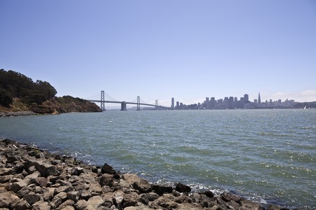 San Francisco and the Bay Bridge viewed from Treasure Island. Stock Photo - 7529335