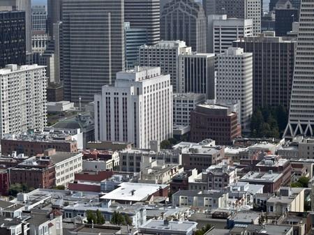 The dense urban core of California's San Francisco.   Stock Photo - 7529338
