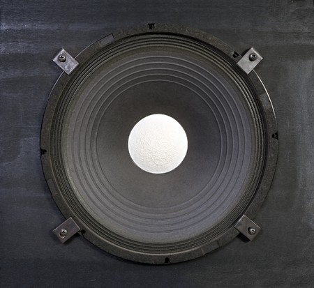 Massive 15 inch bass amplifier speaker.  Thunder in a box.   Stock Photo - 7565564