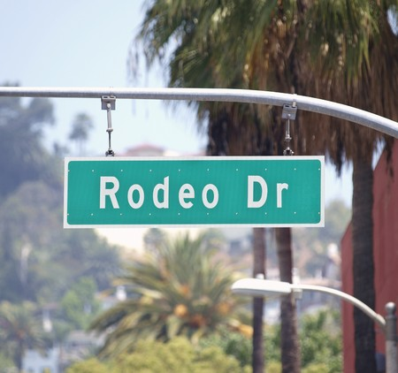 Rodeo Drive sign in affluent Beverly Hills California. Stock Photo - 7707148