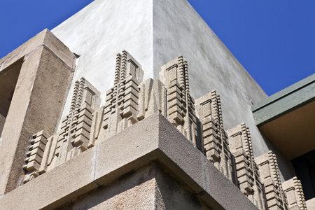 frank: LOS ANGELES - September 23: Frank Lloyd Wrights landmark Hollyhock House, owned by City of LA, survives despite budget shortfalls on September 23, 2010 in Los Angeles, California.