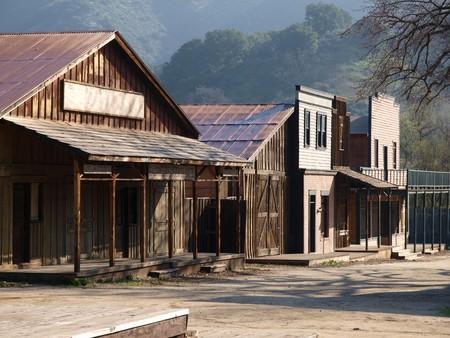 Historique Paramount Ranch, qui fait maintenant partie du Parc National des monts Santa Monica. Banque d'images - 7986595
