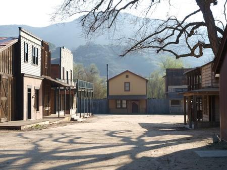 rancho: Hist�rico Rancho Paramount, ahora forma parte del Parque de nacional de las monta�as de Santa M�nica. Foto de archivo