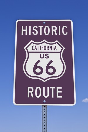 Historic California US Route 66 road sign. Stock Photo - 8054548