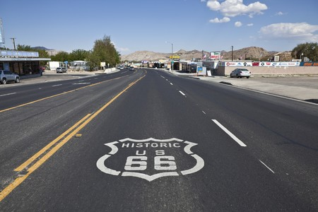 VICTORVILLE CALIFORNIA - OCTOBER 15:  The old town business district battles tough economic times by using its Route 66 heritage to attract visitors to historic 7th street on October 15, 2010 in Victorville, California.   Stock Photo - 8038598