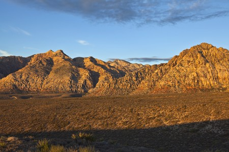 First light on the sandstone cliffs at Red Rock Conservation Area near Las Vegas, Nevada. Stock Photo - 8054573
