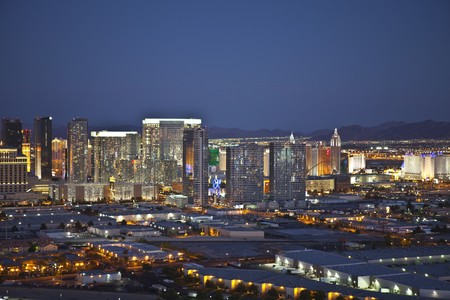 LAS VEGAS, NEVADA - SEPTEMBER13:  Late dusk light on the newly opened and wildly popular City Center Resort on September 13, 2010 in Las Vegas, Nevada.
