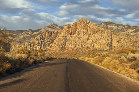 Dawn light at Red Rock scenic loop road near Las Vegas Nevada. Stock Photo - 8338014