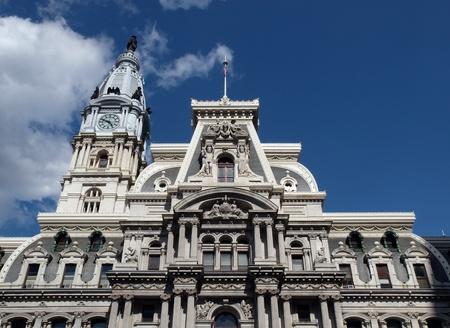 Philadelphias landmark historic City Hall building.