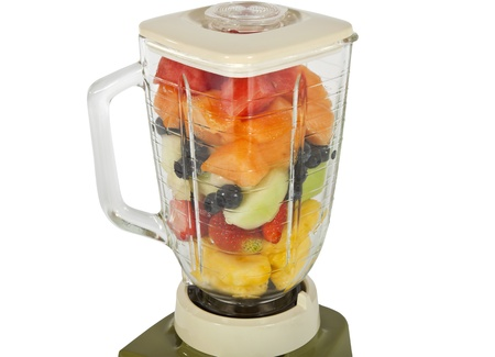 Fresh fruit and melon in a vintage blender. Stock Photo - 8566537