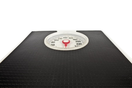 Old bathroom scale looms large with news of holiday weight gain. Stock Photo - 8566548