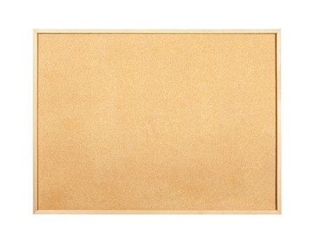 Clean, blank, cork and wood bulletin message board. Stock Photo