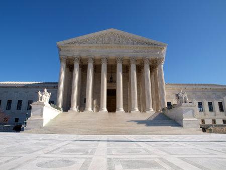 Washington DC, USA - January 10, 2010:  The Supreme Court building in Washington DC.