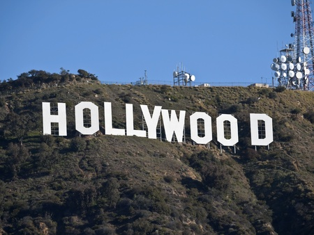 Hollywood, California, USA - February, 27th 2011:  The world famous landmark Hollywood Sign in LAs Griffith Park. Editorial